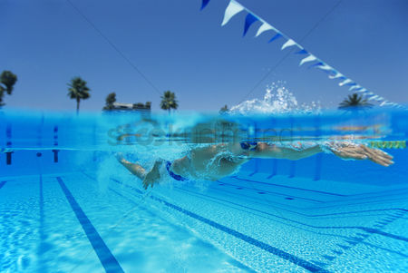 Lively : Man swimming in pool