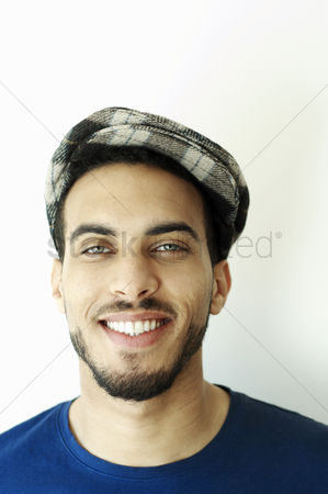 Head shot : Man wearing beret