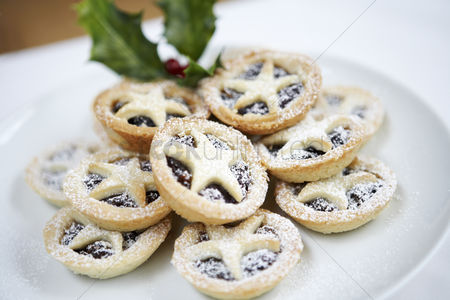 Shape : Mince pies close up