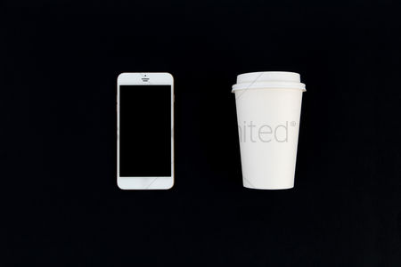 Connections : Mobile phone and a cup of coffee