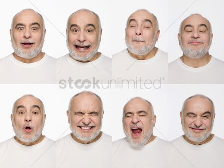 Retirement : Montage of man pulling different expressions