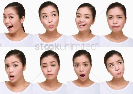 Ignorance : Montage of woman pulling different expressions