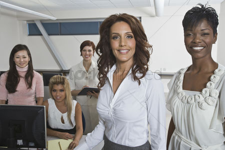 Interior : Multi racial group of businesswomen portrait