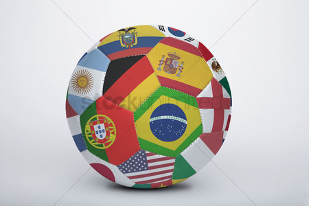 Herzegovina : National flags on a soccer ball