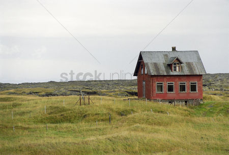 Remote : Old house in rugged landscape