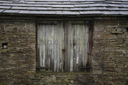 England : Old shed close-up view yorkshire dales yorkshire england