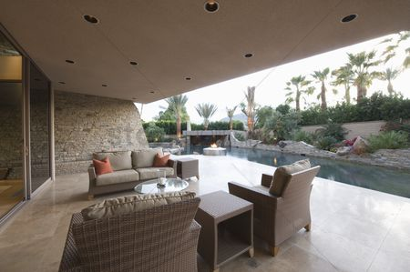 Outdoor : Outdoor room of palm springs home