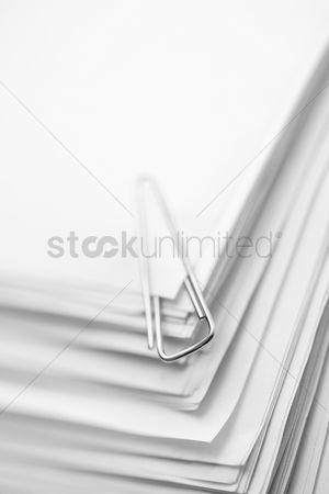 School : Paper clip on a stack of papers