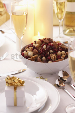 Bowl : Place setting at christmas