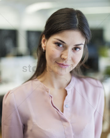 Czech republic : Portrait of beautiful young businesswoman in office