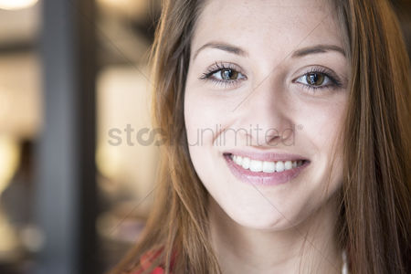 Czech republic : Portrait of confident woman smiling in cafe