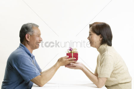 Interior : Portrait of senior couple