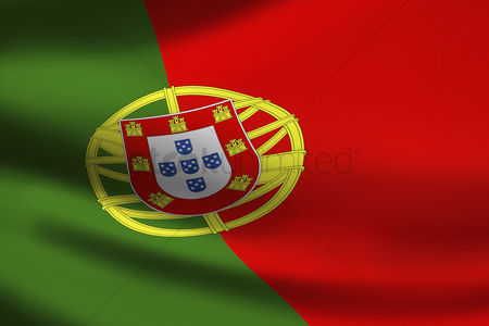 Match : Portugal flag waving