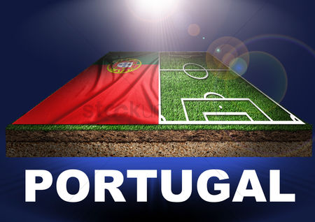 Pitch : Portugal with football field