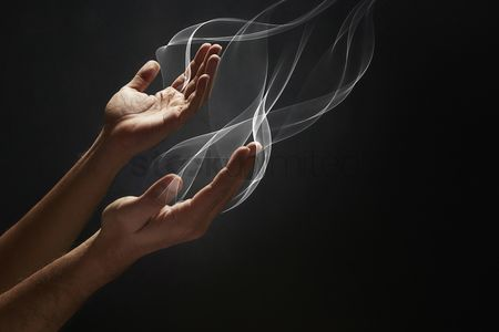 Black background : Praying gesture