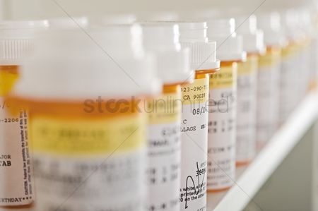 Interior : Prescription drugs close up