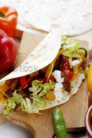 Appetite : Salad in tortilla wrap