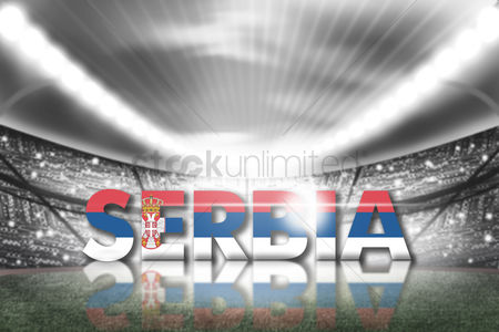 Pitch : Serbia football stadium