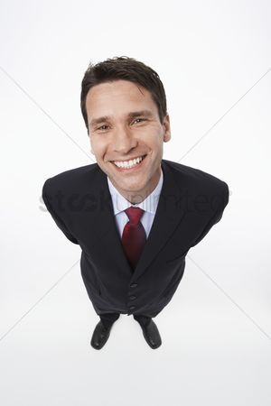 Gaze : Smiling man wearing suit