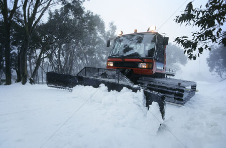 Truck : Snow clearing tractor mt baw baw victoria australia
