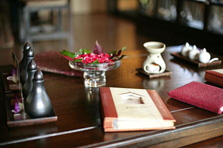 Interior : Spa menu on the table