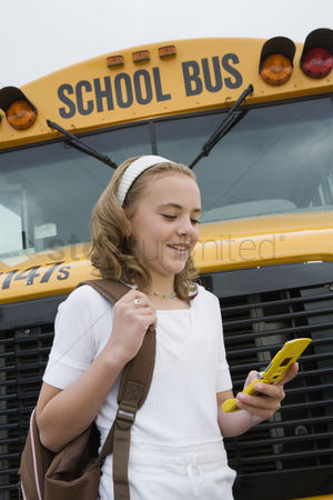 Cellular phone : Student text messaging by school bus