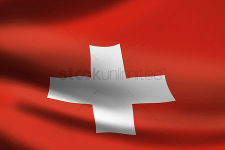 Match : Switzerland flag waving