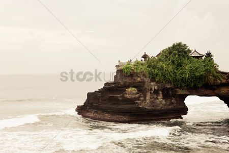 No people : Tanah lot temple at bali indonesia