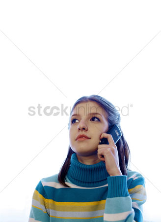 Cellular phone : Teenage girl talking on the phone