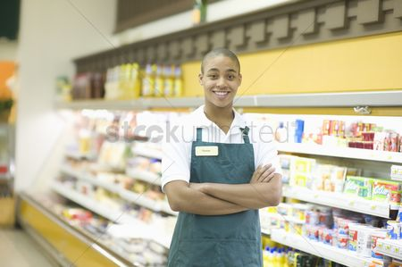 Proud : Teenage supermarket employee