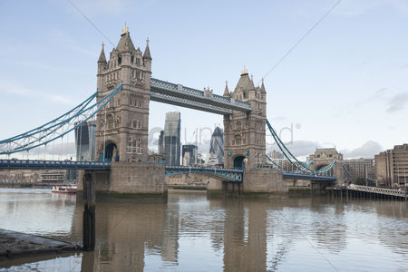 England : Tower bridge and the river thames  london  uk