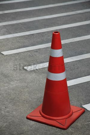 Forbidden : Traffic cone on the road