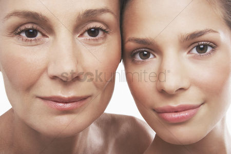 Face : Two beautiful women different ages