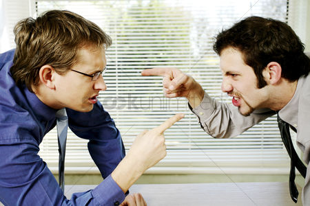 Employee : Two businessmen arguing