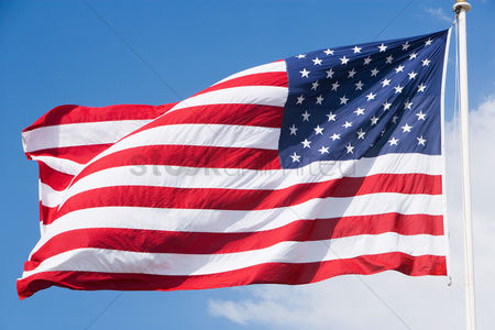 Us : United states flag flapping