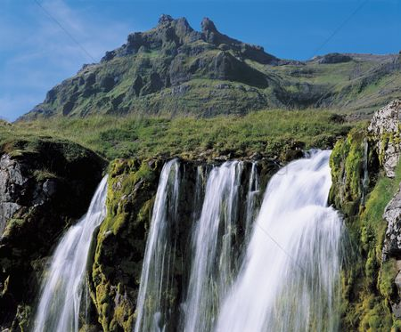 Landscape : Waterfall in mountains