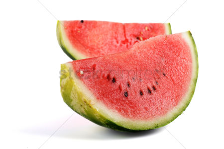 Background : Watermelon on white background  - studio shot
