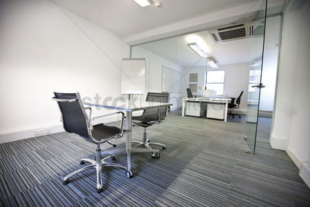 Tidy : Wide view of office interior