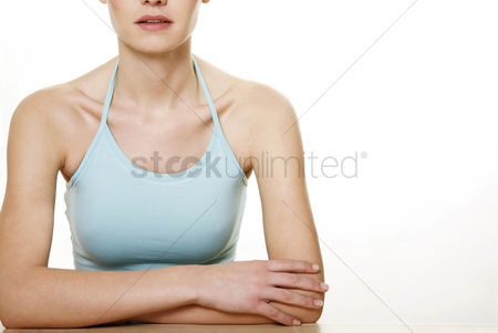Relaxing : Woman in spaghetti top