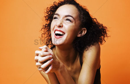 Lively : Woman laughing