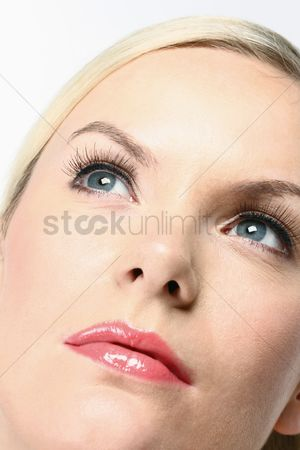 British ethnicity : Woman looking up