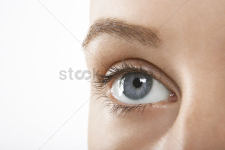 Blue background : Woman s eye