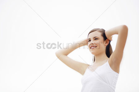 Enjoying : Woman smiling