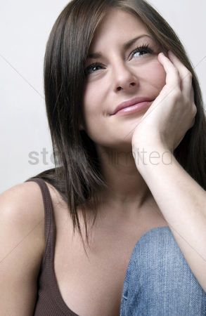 Smile : Woman thinking