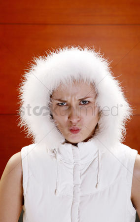 Mad : Woman with angry face