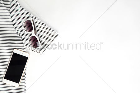 Flat : Women s clothing on white background