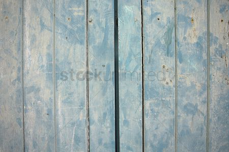 Abstract : Wood panels painted blue